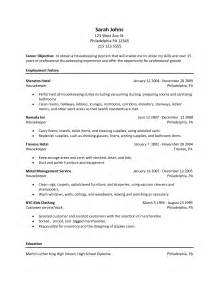 Resume Examples For Housekeeping Housekeeper Resume Sample Best Template Collection
