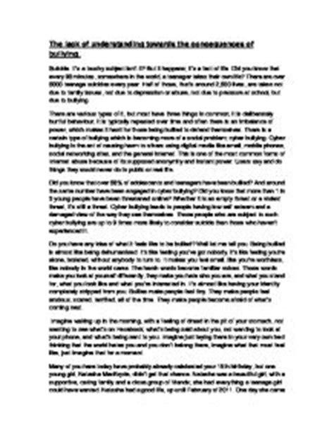 Stop Persuasive Essay by Persuasive Essay About Anti Bullying Writefiction581 Web Fc2