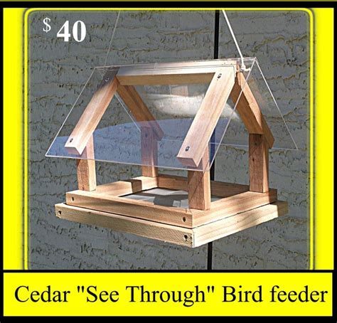cedar see through bird feeder pricelist pinterest