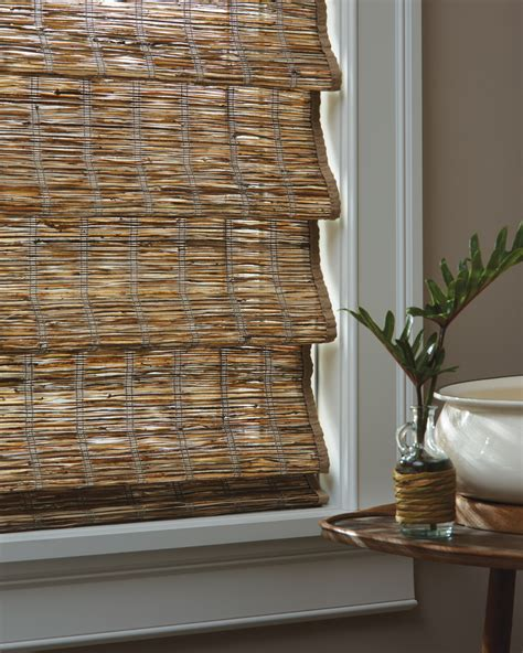 Inch Roman Shade - provenance 174 woven wood shades slats blinds