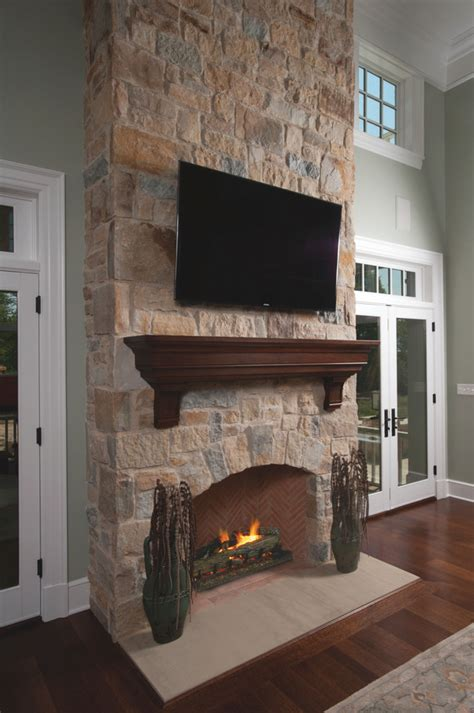 Living Room Mantel Shelf Fireplace Mantel Shelf Family Room Rustic With Faux Beams