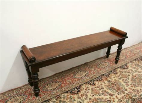 hall benches uk victorian mahogany scroll end hall bench 204745