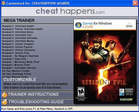 resident evil 5 trainer cheats hack keycrackdownload resident evil 5 pc trainer dx9