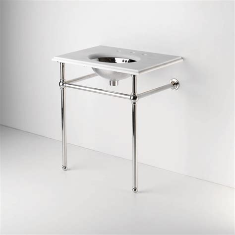 Metal Round Two Leg Single Washstand Waterworks