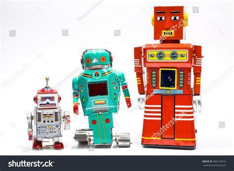 Tin Toys Classic Space Robot vintage tin robot stock photo 406137616