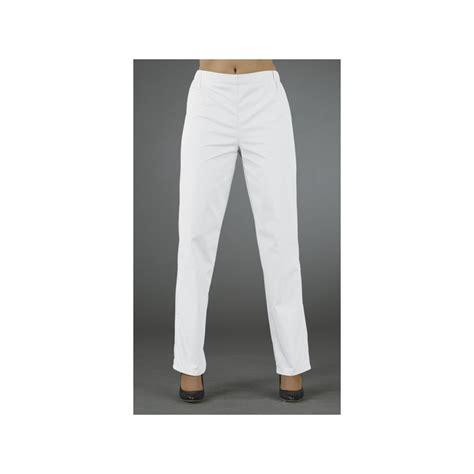 claris banc ensemble esthetique tunique mao blanc pantalon clarisse blanc