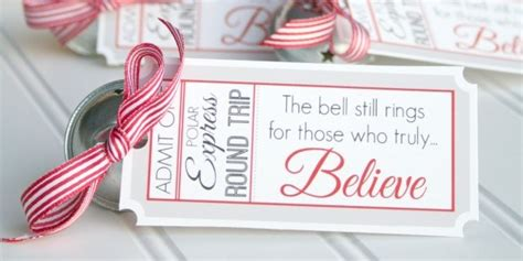 printable believe tags polar express bell favors printable tags design dazzle
