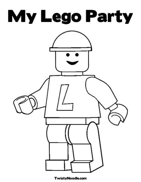 lego birthday coloring page 20 best stempel lego images on pinterest sts