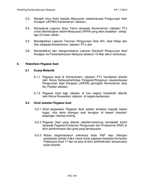 surat pekeliling perbendaharaan bil 1 tahun 2014 4 1 2013 pekeliling perbendaharaan