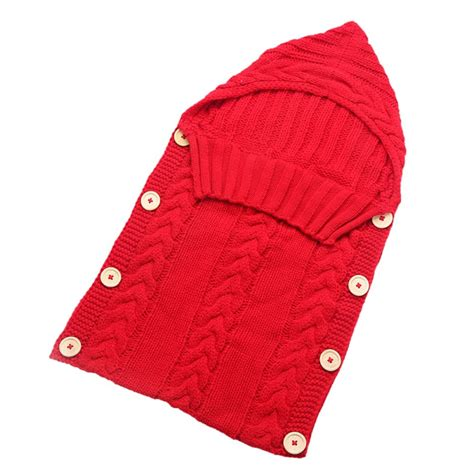 Sleeping Bag Baby Tzum Tzum Pink newborn baby unisex knit crochet swaddle wrap swaddling