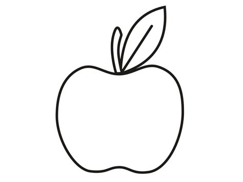 Apple Shape Coloring Page
