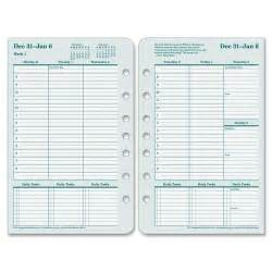 Covey Weekly Planner Template Franklin Covey 35423 Original Planner Refill Julian