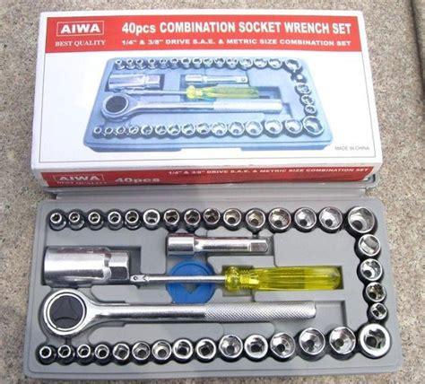 Kunci Ring Dan Pas 8 Pcs Ukuran 6 Sai 22 Mm Merk Nakai aiwa kunci pas 40 pcs multipurpose combination socket wrench set with 1 4 ratchet handle