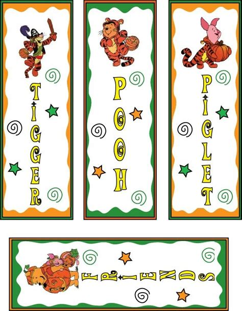 printable lion bookmarks pooh and tiger halloween bookmarks printable bookmarks