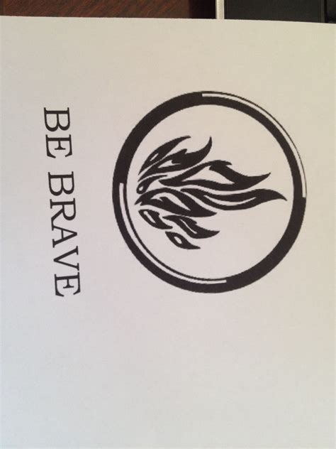 dauntless tattoo be brave dauntless symbol divergent idea