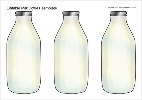 milk template editable milk bottles template sb9361 sparklebox