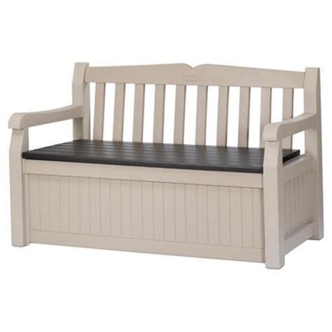 plastic bench with storage buy keter eden plastic storage bench from our garden