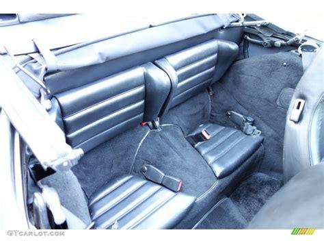 1986 porsche targa interior 1986 porsche 911 targa rear seat photo 86339827