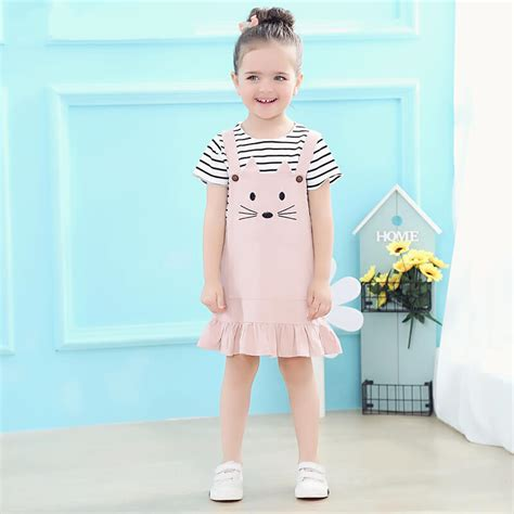 Cat Set T Shirt And Dress itty bitty striped t shirt cat dungaree skirt set baby boutique shop
