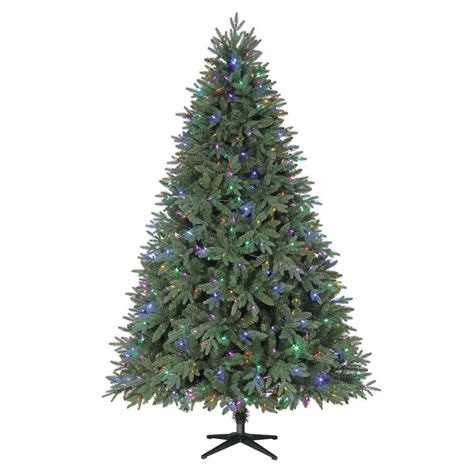 home accents holiday 75 frasier fir home accents 7 5 ft harrison fir set artificial tree with 550 color