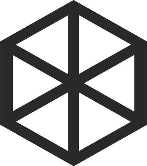 hexahedron template hexahedron free vector in open office drawing svg svg