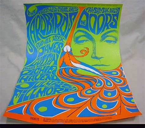 Out The Door Fillmore by 1967 Bill Graham The Doors Fillmore Concert Poster