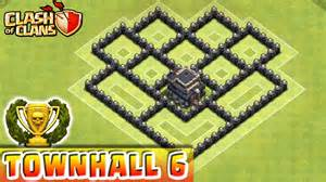 Clash of clans defense strategy townhall level 6 trophy base