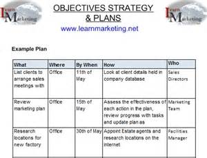 strategic planning goals and objectives template table containing exle plan images frompo