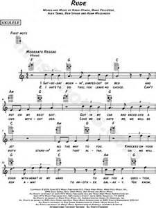 printable rude lyrics magic quot rude quot sheet music leadsheet in c major