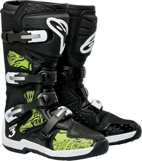 Alpinestar Boots Green alpinestars tech 3 offroad motorcycle boots black green