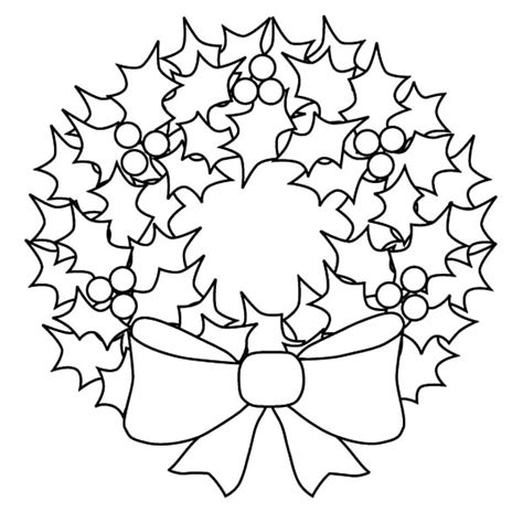 wreath coloring page wreath free colouring pages