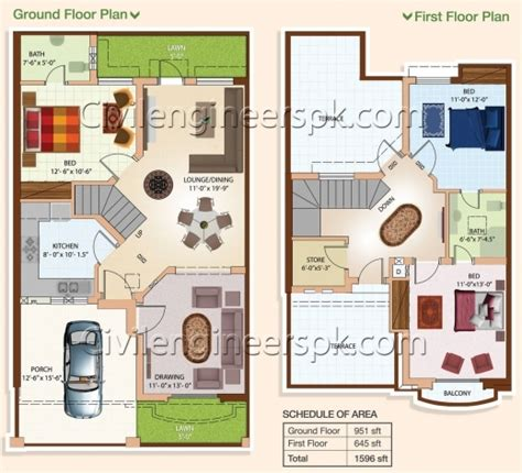 home design 4 marla inspiring 5 marla house plan in autocad house design plans