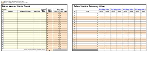 vendor comparison template excel yaruki up info
