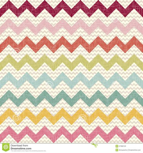 color pattern and texture seamless color chevron pattern on linen texture stock