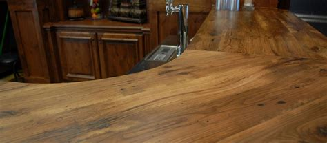 wood bar top antique hickory reclaimed wood tops elmwood reclaimed timber