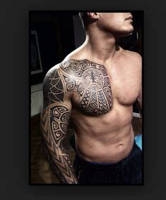tattoo chest and sleeve 1000 images about polynesian tattoos on pinterest