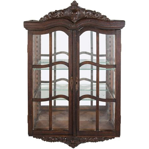 antique curio cabinets for sale antique victorian curio wall mount cabinet with carved