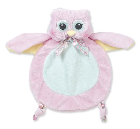 Setelan Baby Pay Owl bearington baby lil hoots pink owl belly blanket tummy time play mat 30 quot x 30