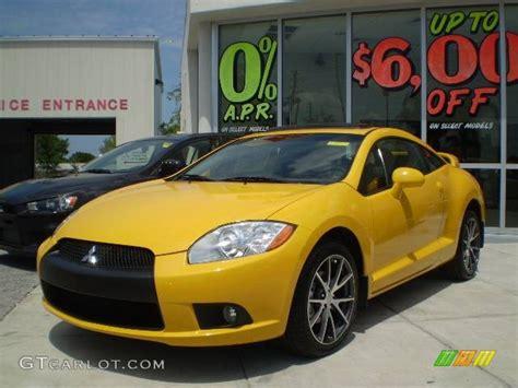 mitsubishi eclipse yellow 2009 solar satin yellow mitsubishi eclipse gt coupe