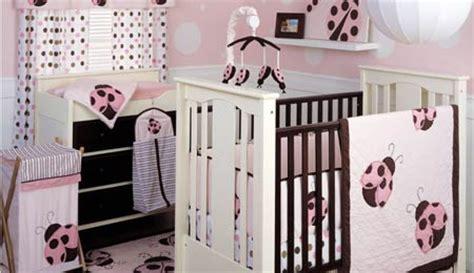Ladybug Baby Bedding For Cribs Pink And Brown Ladybug Crib Bedding
