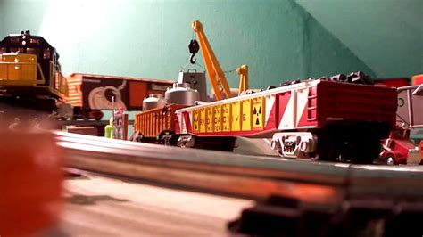 santa fe layout youtube lionel 4 x 9 toy train layout in attic santa fe geep