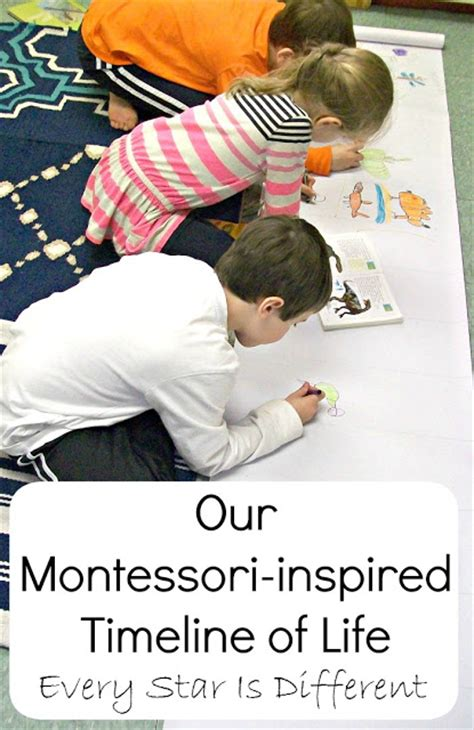 printable montessori timeline of life dinosaur unit 2 with free printables every star is different