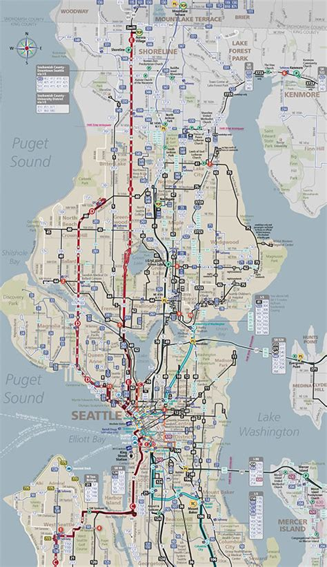 seattle map transportation seattle king county safety trunking system seattle
