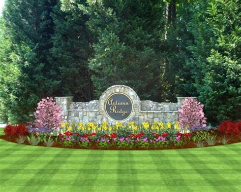 neighborhood sign landscape ideas landscaping photo