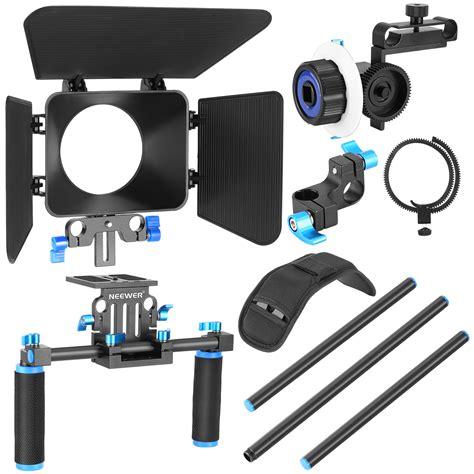 dslr matte box neewer dslr rig kit shoulder mount rig with follow focus