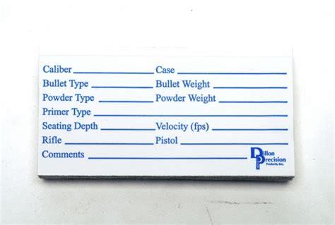 printable reloading labels extra loading data labels 10446 gun ammo storage