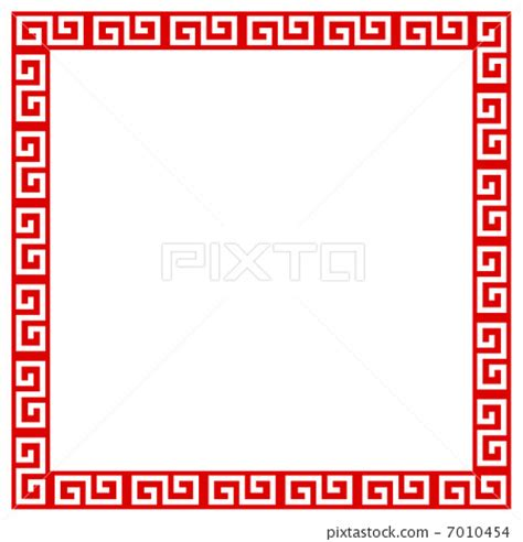 chinese pattern frame vector chinese pattern flame frame stock illustration