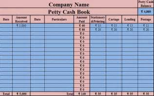 petty summary template free ms excel template for petty book