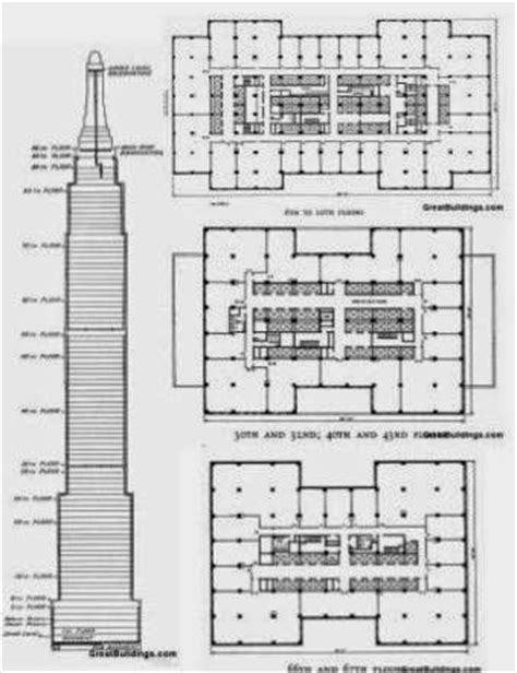 chrysler building floor plans architecture nest structure system of empire state building
