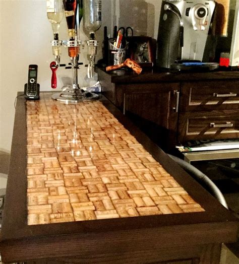 wine cork bar top wine cork epoxy bar top by fogliart fogliart s creations pinterest